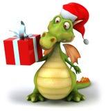 De draak van de kerstman Stock Afbeelding