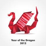 De draak van de origami Stock Afbeeldingen