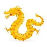 De draak van de origami Royalty-vrije Stock Afbeeldingen