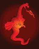 De draak van het beeldverhaal vector illustratie