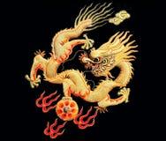 De draak van het borduurwerk royalty-vrije illustratie