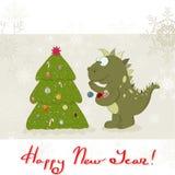 De Draak van het nieuwjaar `s Royalty-vrije Stock Afbeeldingen