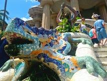 De Draak van parkguell, Barcelona Royalty-vrije Stock Foto