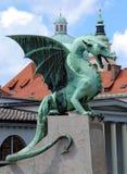 De Draak van Slovenië Ljubljana in Zmajski het meest Stock Foto's