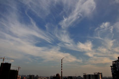 De draak van wolken Royalty-vrije Stock Afbeeldingen
