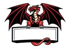 De draakmascotte spreidde de vleugels uit royalty-vrije illustratie