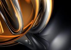 De draden van Chrom in oranje licht Stock Afbeeldingen