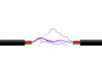 De draden van de elektriciteit Stock Afbeeldingen
