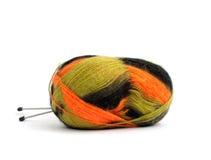 De draden van de kleur voor het breien Stock Afbeelding