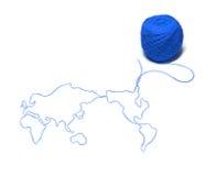 De draden van de wereld stock afbeelding