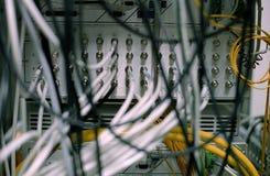 De draden van het netwerk coaxail Stock Afbeeldingen
