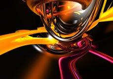 De draden van Orange&violette Stock Foto's