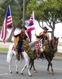 De dragers van de vlag Stock Foto