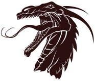 De draken van malplaatjes voor tatoegering Stock Foto