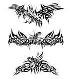 De draken van tatoegeringen Stock Afbeeldingen