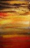 De dramatische achtergrond van de waterverfhand geschilderde kunst Stock Afbeeldingen