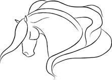 De dramatische Vector van het Hoofd van het Paard Stock Foto