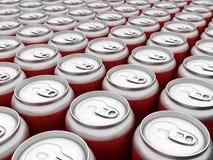 De drank kan binnen Stock Foto