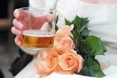 De drank van de bruid Stock Foto