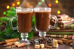 De drank van de Kerstmiscacao stock foto's