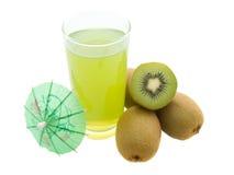 De drank van de kiwi Stock Afbeelding