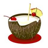 De Drank van de kokosnoot Stock Afbeeldingen