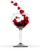 De drank van de liefde. Stock Foto's