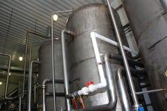 De drank van de productie stock foto