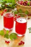 De drank van de rode aalbes Royalty-vrije Stock Fotografie