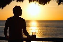 De drank van de zonsondergang stock foto's