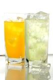 De drank van Orane en van de kalk stock foto