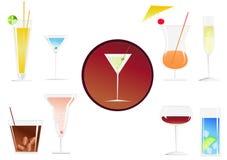 De dranken van cocktails Royalty-vrije Stock Foto's