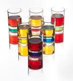 De dranken van de alcohol op witte achtergrond Royalty-vrije Stock Afbeeldingen