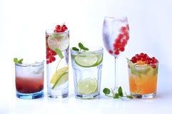 De dranken van de zomer royalty-vrije stock fotografie