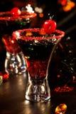 De dranken van Halloween - de Cocktail van het Bloed van de Duivel Royalty-vrije Stock Fotografie