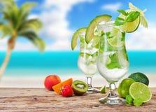 De dranken van Mojito Stock Afbeeldingen