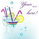 De drankenachtergrond van de cocktail Royalty-vrije Stock Fotografie