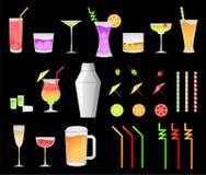 De drankpictogrammen van de partij Royalty-vrije Stock Fotografie