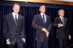De drie Amerikaanse voorzitters stock fotografie