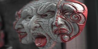 de drie gezichten van vrees royalty-vrije stock afbeeldingen