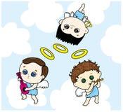 De drie hoekjongens royalty-vrije illustratie