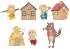 De Drie Kleine Varkenskarakters stock illustratie