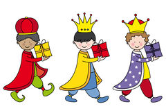 De drie Koningen Stock Afbeeldingen