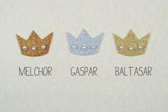 De drie Koningen van Oosten Stock Afbeelding