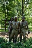 De Drie Militairen - de Oorlogsgedenkteken van Vietnam - Washington D C Royalty-vrije Stock Foto