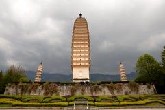 De Drie Pagoden - Dali - China Royalty-vrije Stock Foto's