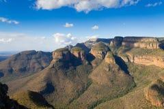 De Drie Rondavels mening, Zuid-Afrika Stock Afbeelding