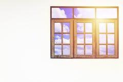 De drie vensters zijn gesloten Stock Fotografie