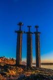 De drie zwaarden Stock Afbeelding