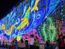 De driedimensionele lichte tentoonstelling voor Stadhuis Stock Foto's